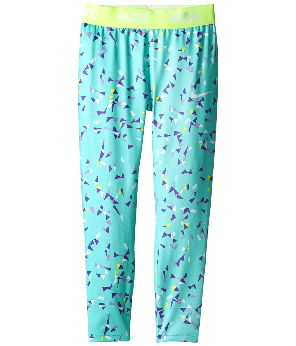 Nike Kids - Dri-FIT Sport Essentials Print Legging (Little Kids) (Green Glow) Girl's Casual Pants