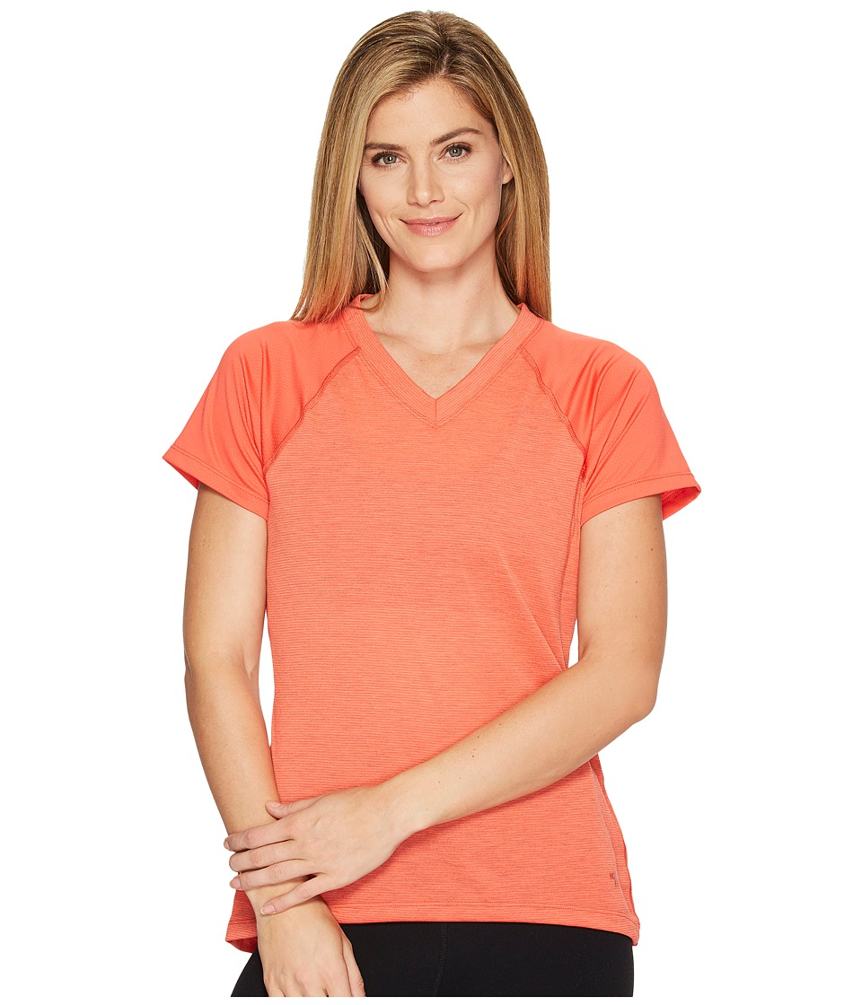 The North Face Reactor V-Neck Short Sleeve Shirt (Cayenne Red (Prior Season)) Women