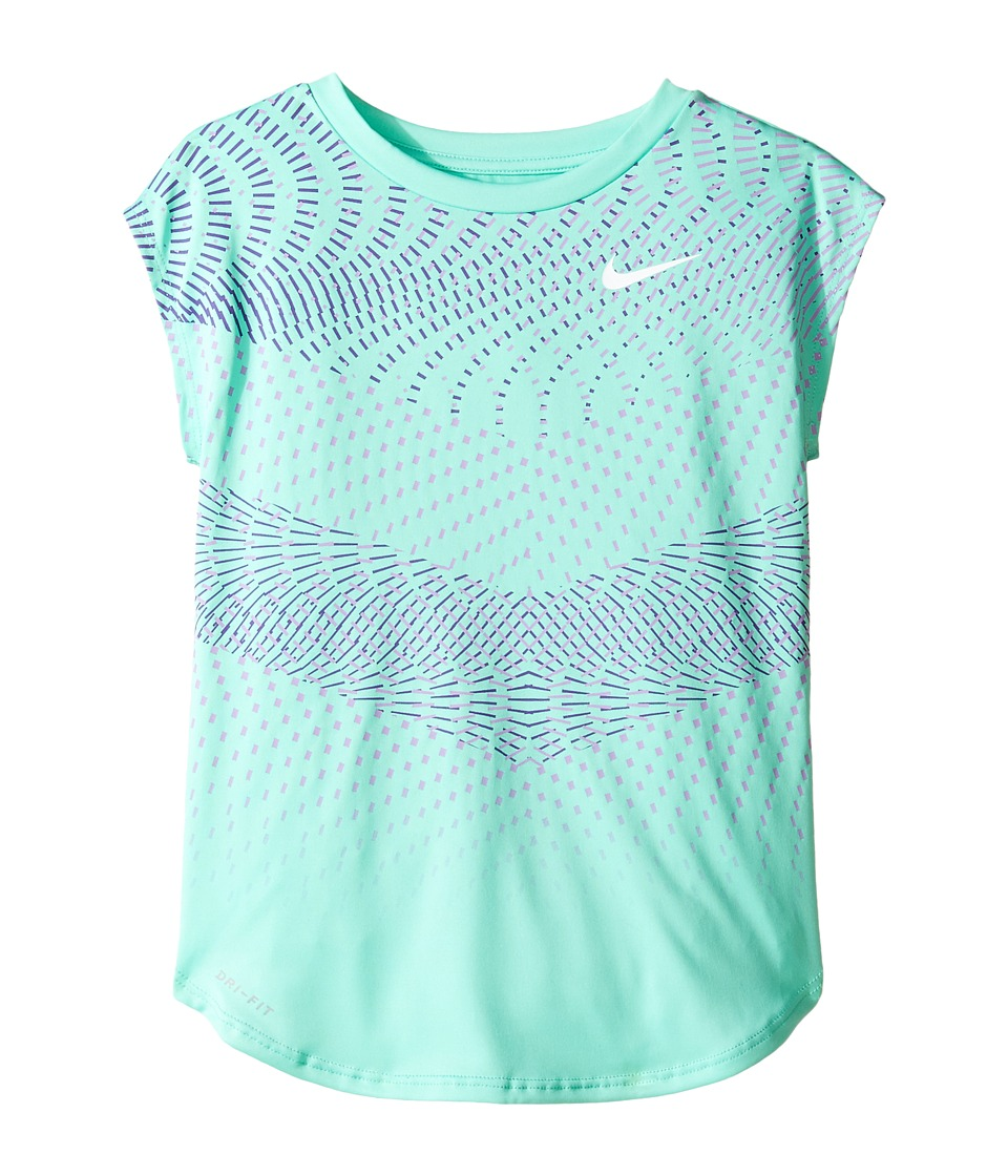 Nike Kids - Chevron Geo Dri-FIT Modern Tee (Little Kids) (Green Glow) Girl's T Shirt