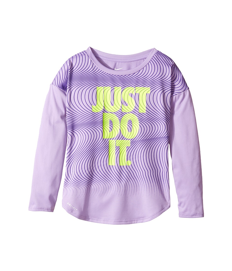 Nike Kids - Just Do It Wave Dri-FIT Modern Tee (Little Kids) (Urban Lilac) Girl's T Shirt