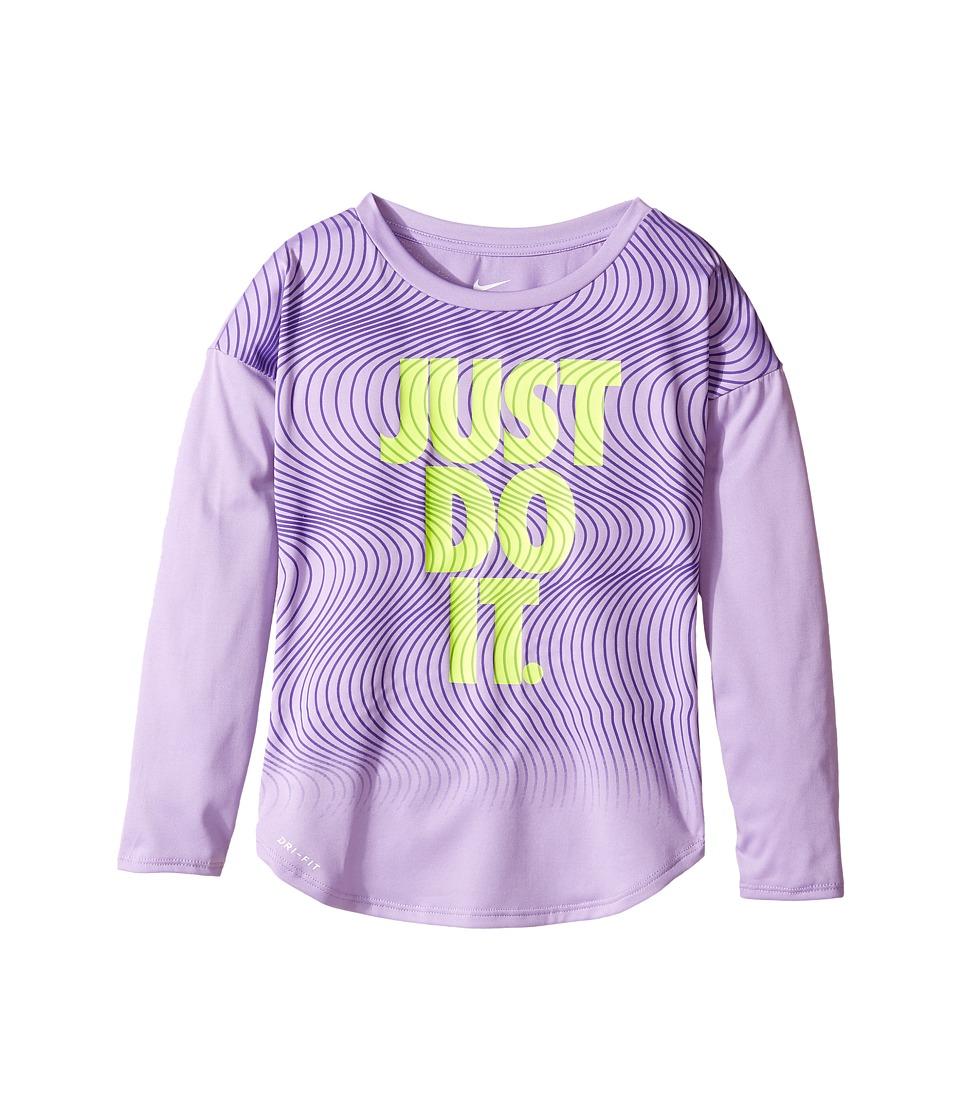 Nike Kids - Just Do It Wave Dri-FIT Modern Tee (Little Kids) (Urban Lilac) Girl's T Shirt