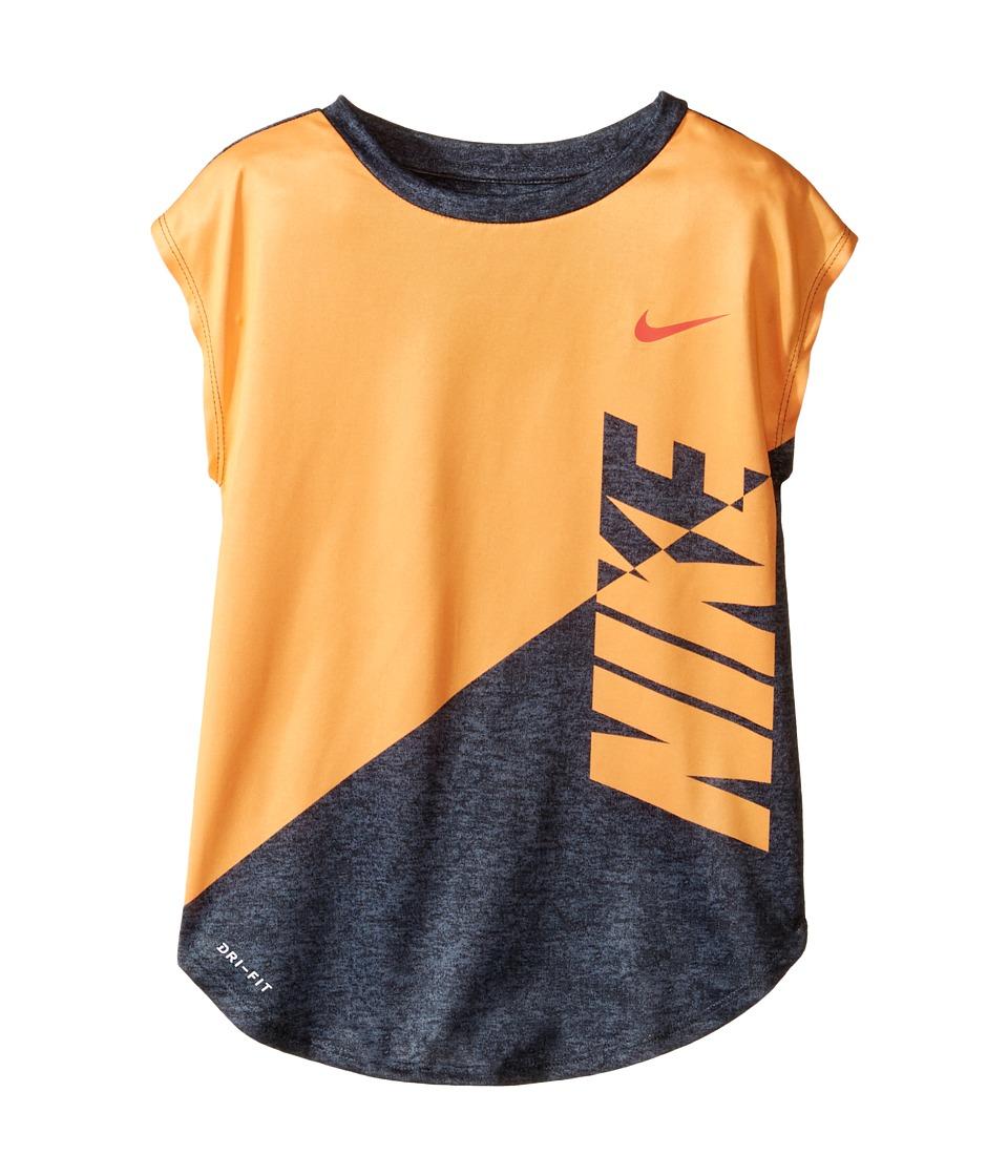 Nike Kids - Splice Heather Dri-Fit Tee (Little Kids) (Peach Cream) Girl's T Shirt