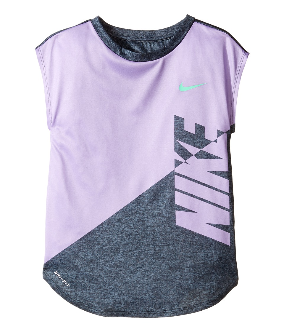 Nike Kids - Splice Heather Dri-Fit Tee (Little Kids) (Urban Lilac) Girl's T Shirt