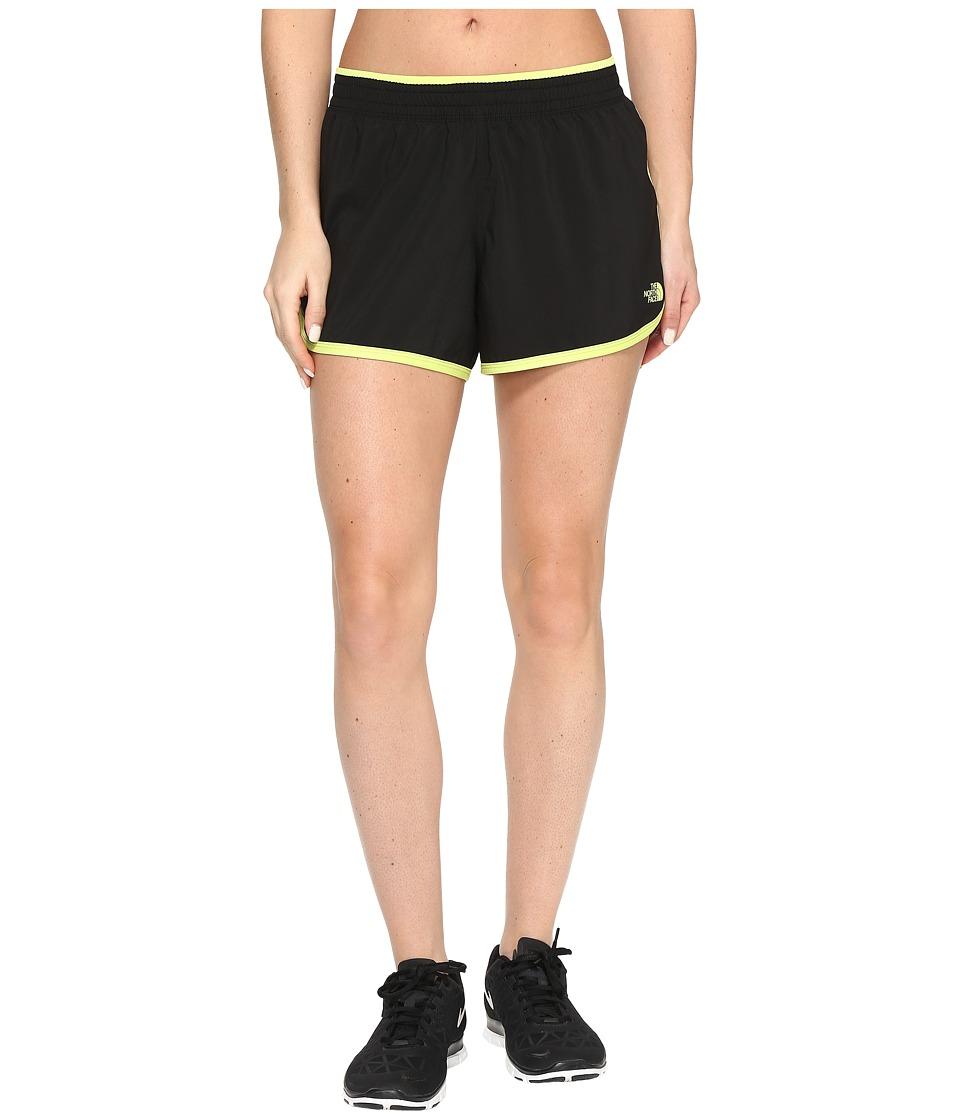 The North Face - Reflex Core Shorts (TNF Black/Wild Lime (Prior Season)) Women's Shorts