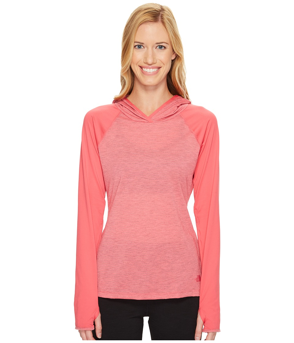 The North Face - Reactor Hoodie (Honeysuckle Pink Heather/Honeysuckle Pink (Prior Season)) Women's Sweatshirt