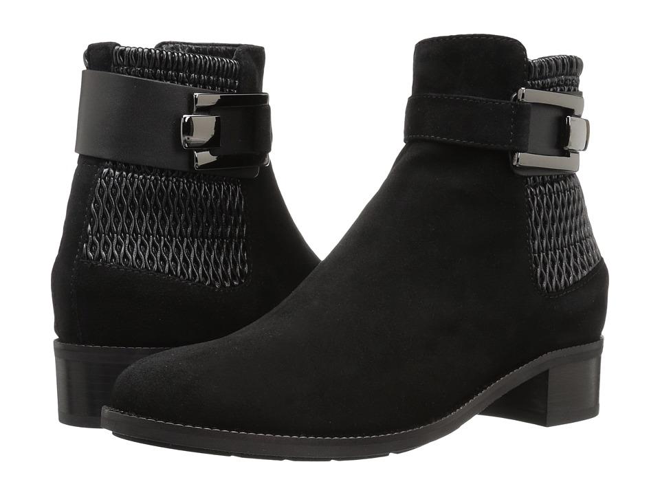 Aquatalia - Odette (Black Suede) Women's Boots