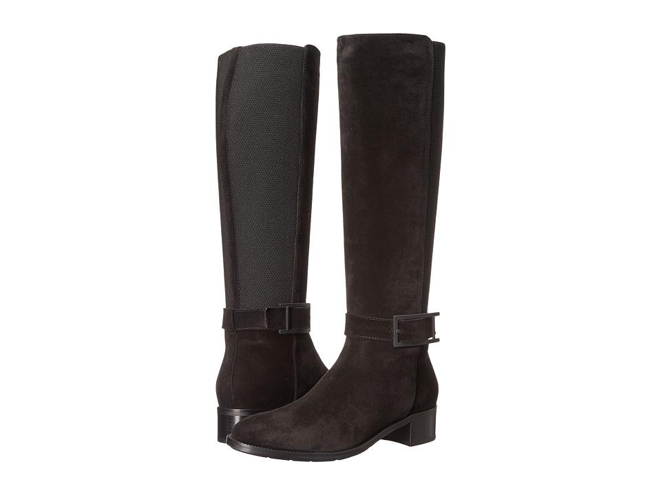 Aquatalia - Orella (Black Suede) Women's Boots