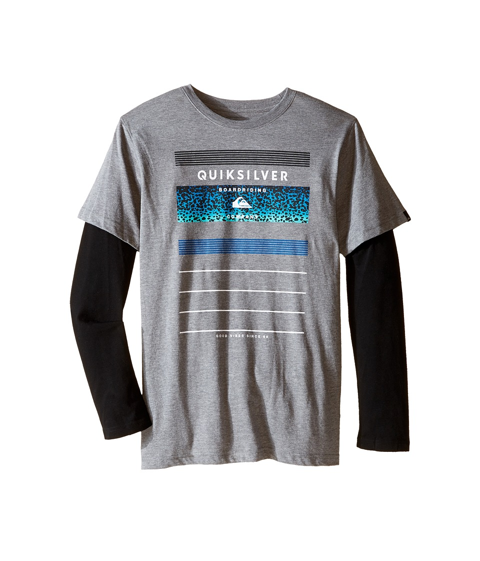 Quiksilver Kids - Stringer Top (Big Kids) (Medium Grey Heather) Boy's Clothing