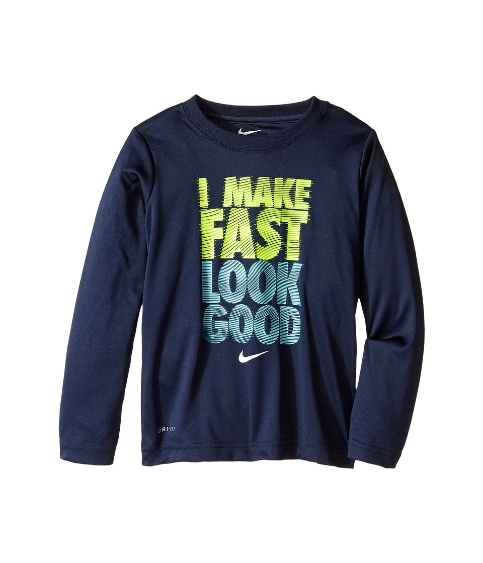 Nike Kids - I Make Fast Look Good Tee (Toddler) (Obsidian) Boy's T Shirt