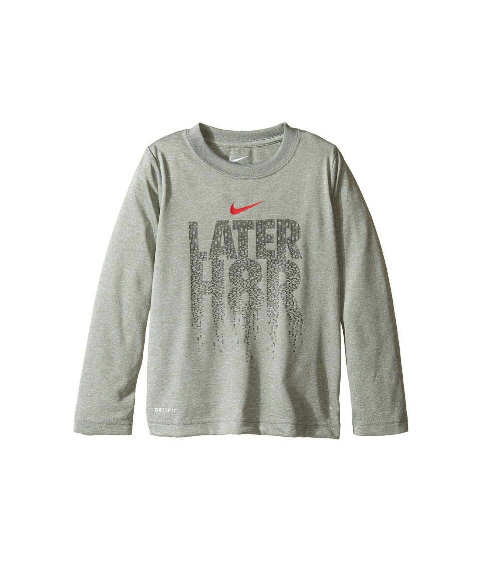 Nike Kids - Later H8R Tee (Toddler) (Dark Grey Heather) Boy's T Shirt