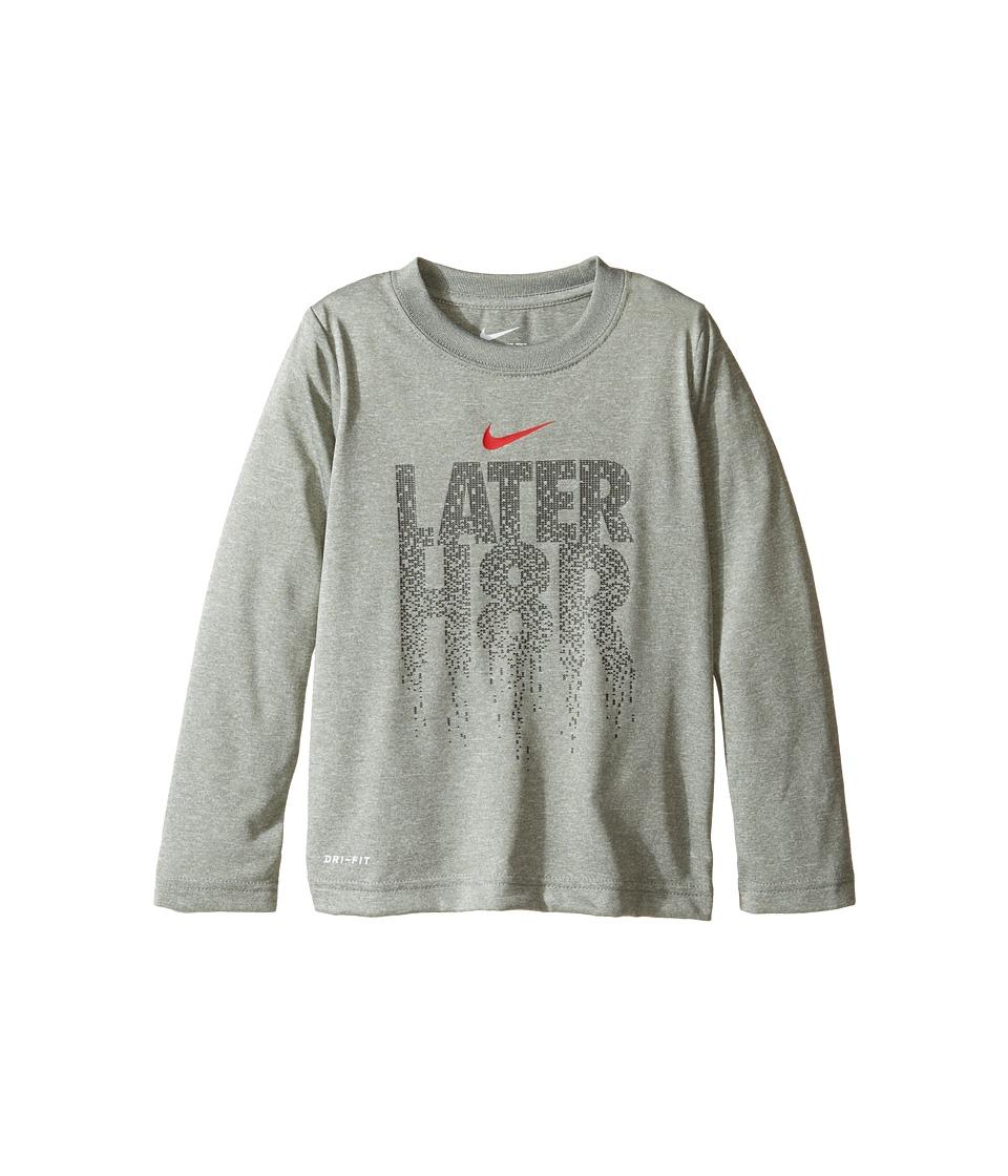 Nike Kids - Later H8R Tee (Toddler) (Dark Grey Heather) Boy's T Shirt