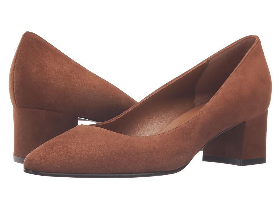 Aquatalia - Pheobe (Caramel Suede) Women's 1-2 inch heel Shoes