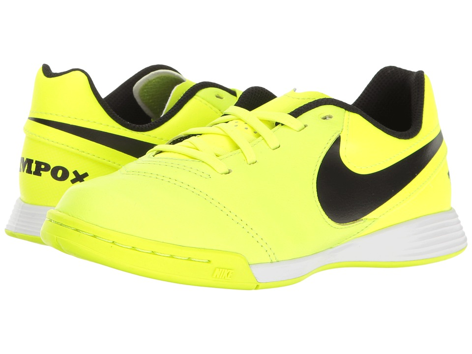 Nike Kids - Jr Tiempo Legend VI IC Soccer (Toddler/Little Kid/Big Kid) (Volt/Black/Volt) Kids Shoes