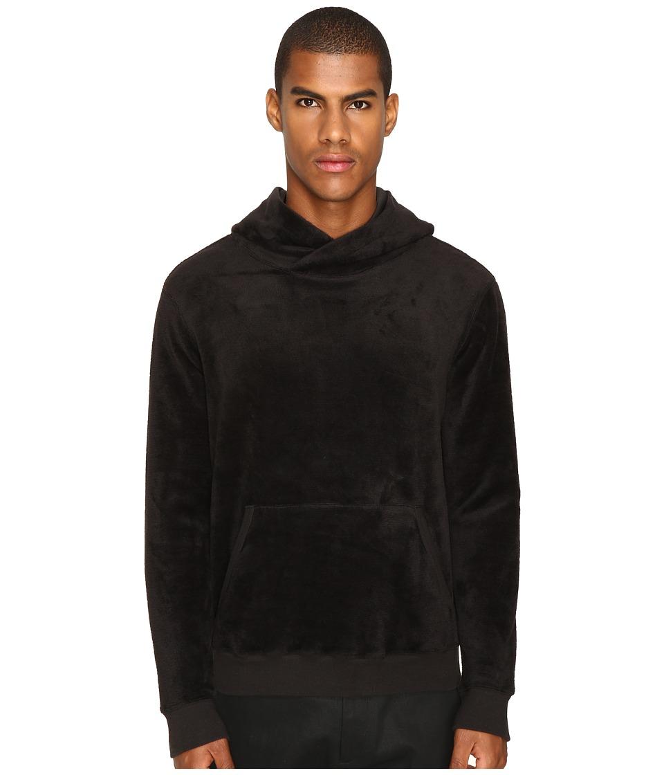 ATM Anthony Thomas Melillo - Velour Hoodie (Black) Men's Sweatshirt