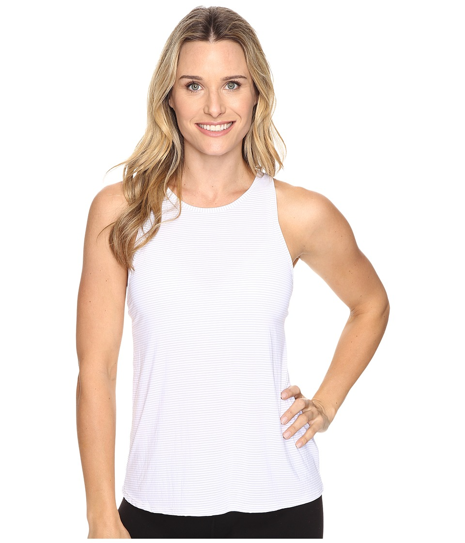 Beyond Yoga - Waterfall Swing Tank Top (White) Women's Sleeveless