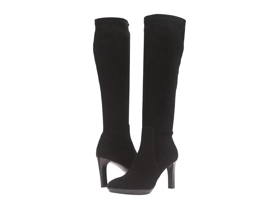 Aquatalia - Rumbah (Black Stretch Suede) Women's Boots