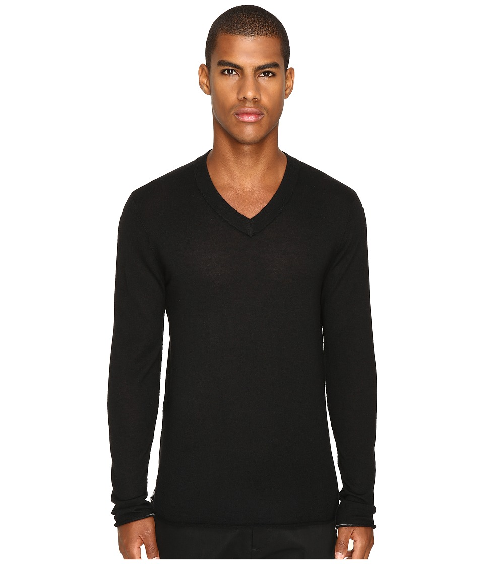 ATM Anthony Thomas Melillo - Cashmere V-Neck Sweater (Black) Men's Sweater