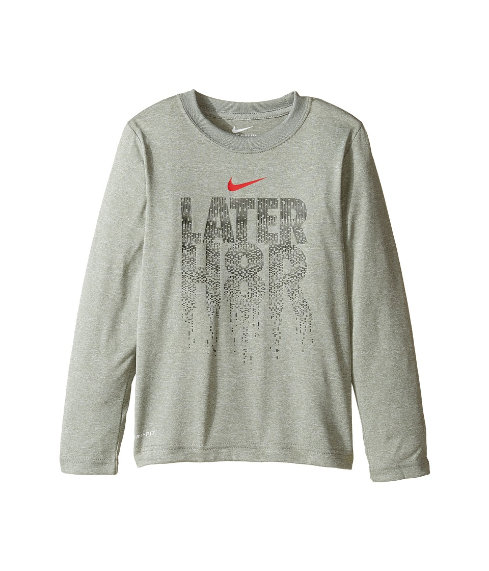 Nike Kids - Later H8R Tee (Little Kids) (Dark Grey Heather) Boy's T Shirt