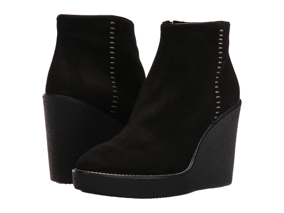 Aquatalia Vena (Black Pebbled Suede) Women's Boots