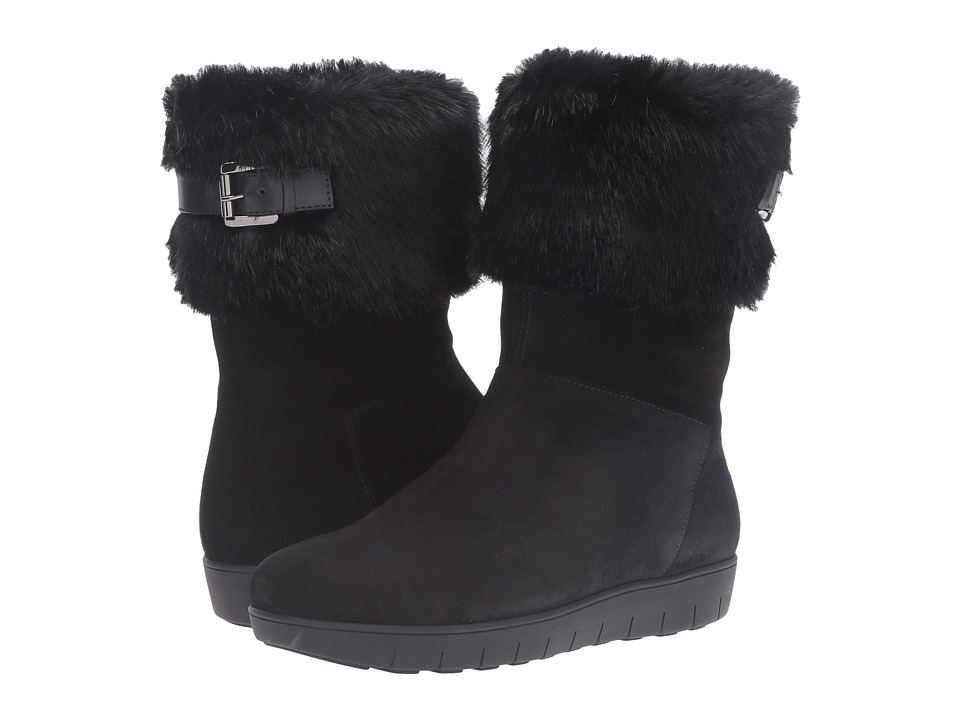 Aquatalia - Willow (Black Suede) Women's Boots