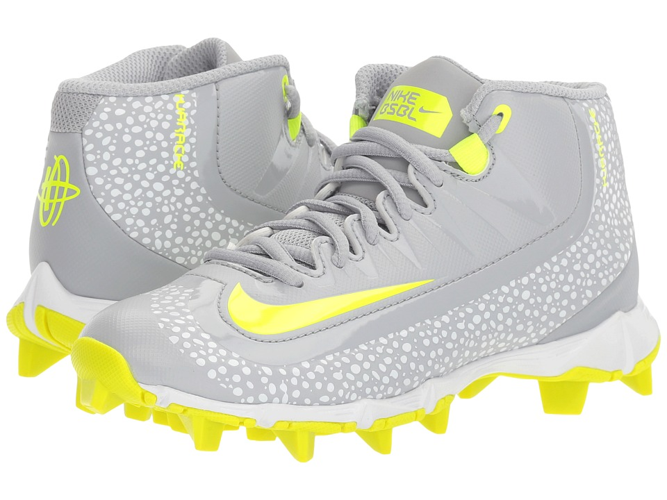 Nike Kids - Huarache 2K Filth Keystone Baseball (Toddler/Little Kid/Big Kid) (Wolf Grey/Volt/White) Kids Shoes