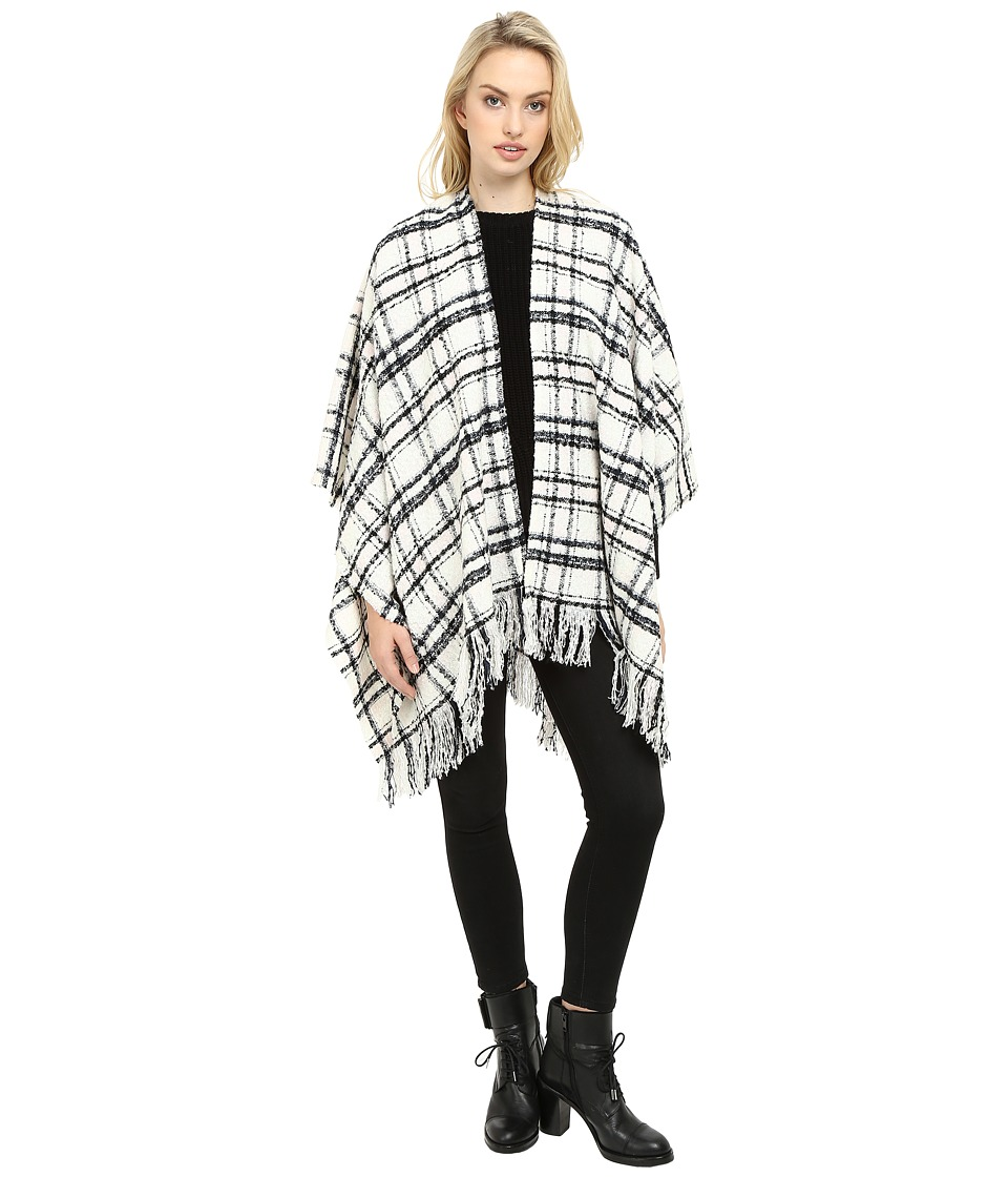 Ivanka Trump - Tartan Ruana (Mauve Chalk) Women's Sweater