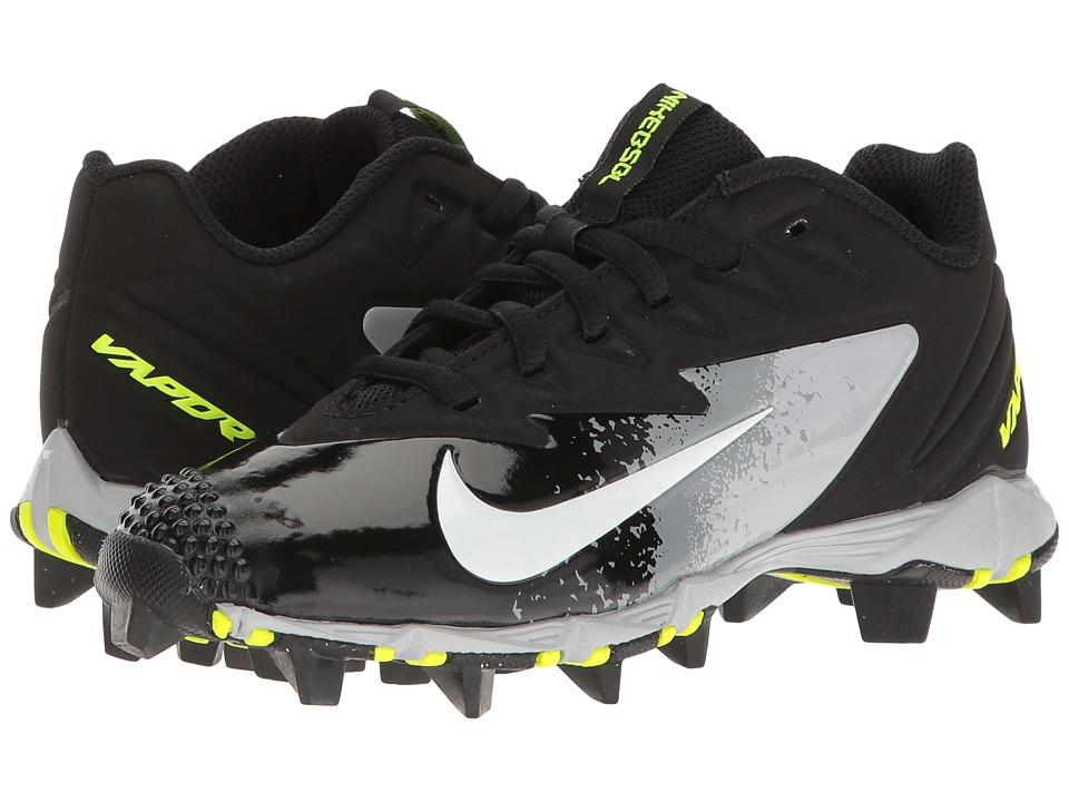 Nike Kids - VPR Ultrafly Keystone BG Baseball (Big Kid) (Black/White/Wolf Grey/Cool Grey) Kids Shoes
