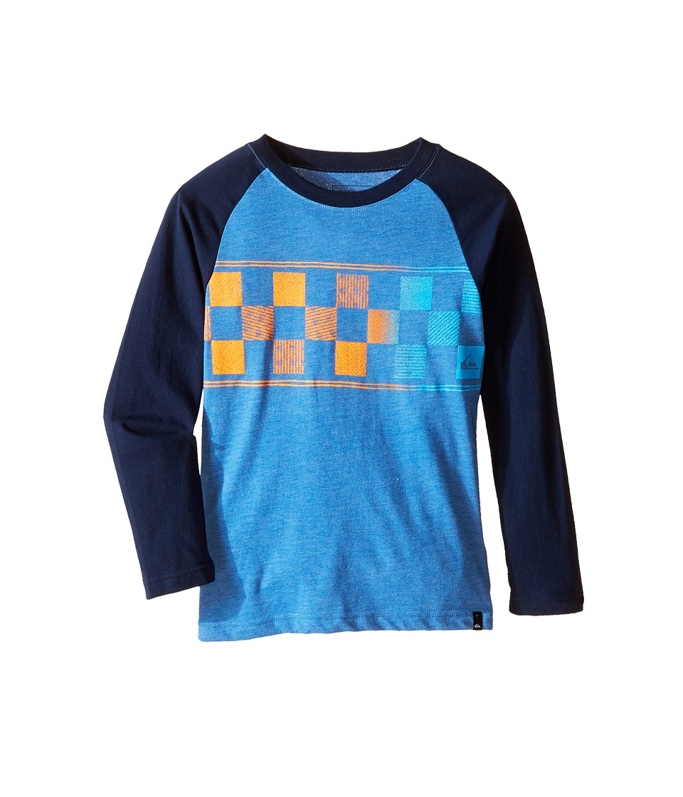 Quiksilver Kids - Checks on Screen Print (Toddler/Little Kids) (Star Sapphire Heather) Boy's T Shirt