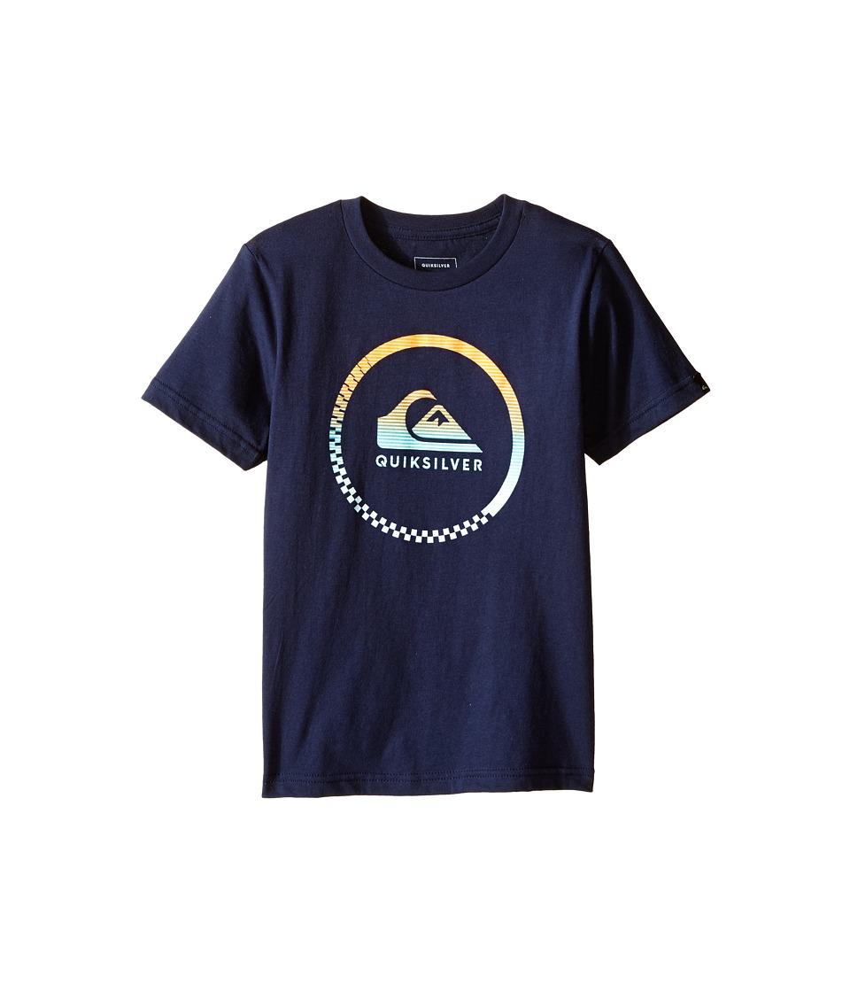 Quiksilver Kids - Active Logo Screen Print (Toddler/Little Kids) (Navy Blazer) Boy's T Shirt