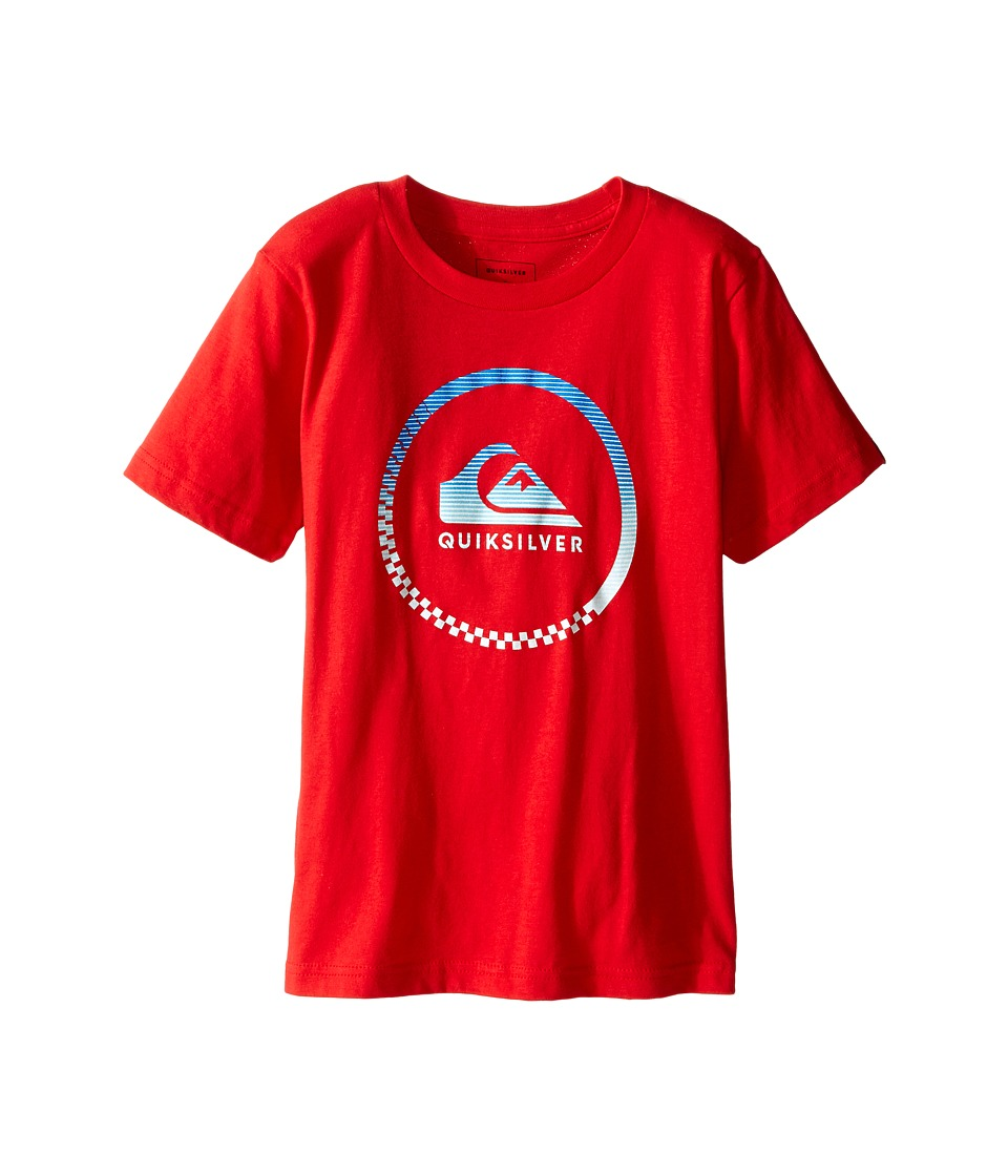 Quiksilver Kids - Active Logo Screen Print (Toddler/Little Kids) (Quik Red) Boy's T Shirt