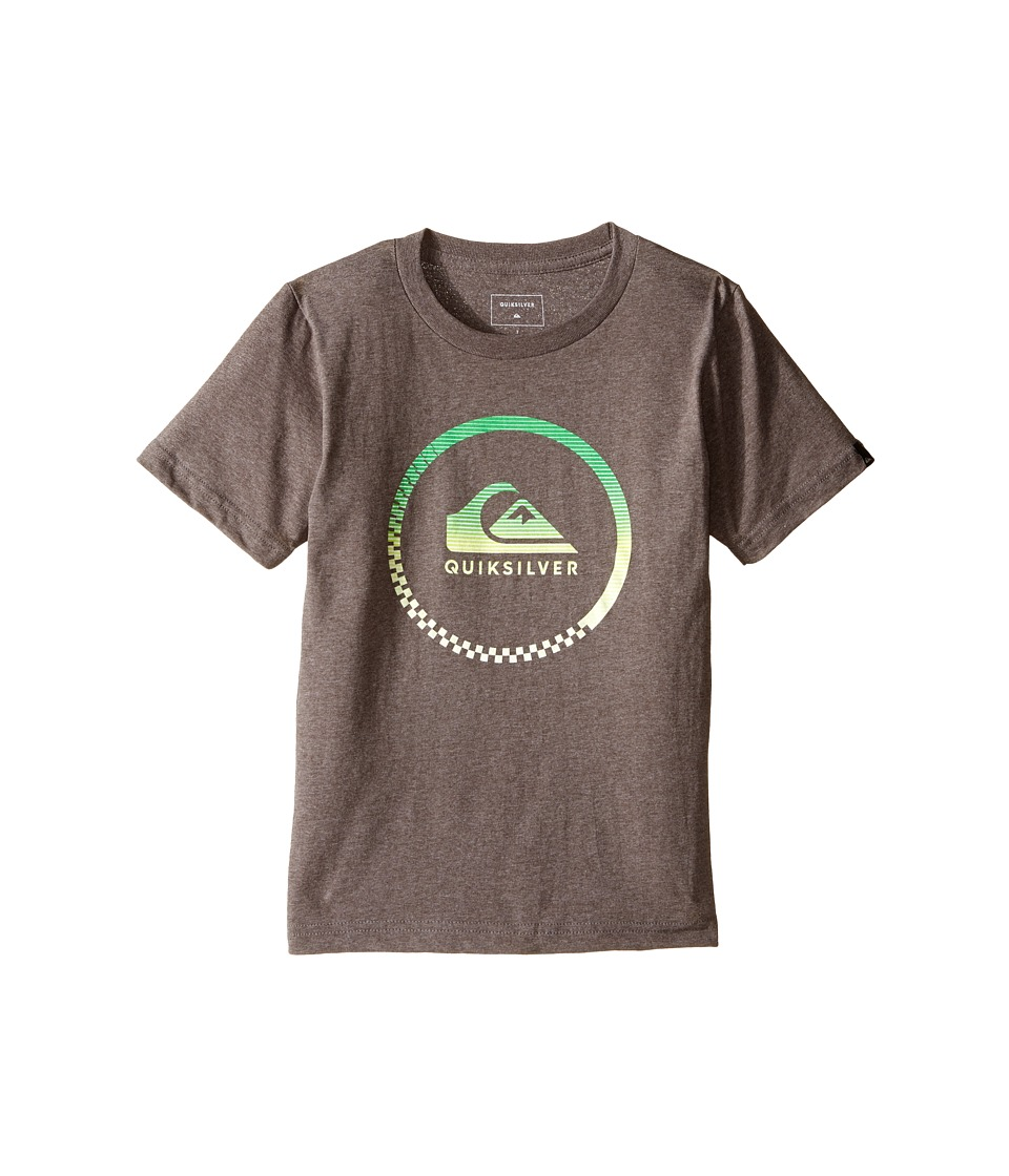 Quiksilver Kids - Active Logo Screen Print (Toddler/Little Kids) (Medium Grey Heather) Boy's T Shirt