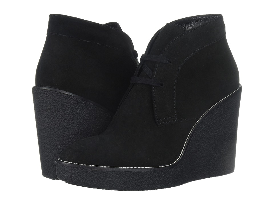 Aquatalia - Vianna (Black Suede) Women's Wedge Shoes