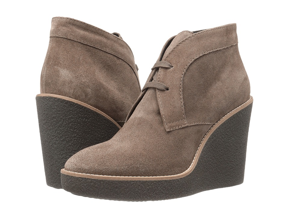 Aquatalia - Vianna (Taupe Suede) Women's Wedge Shoes