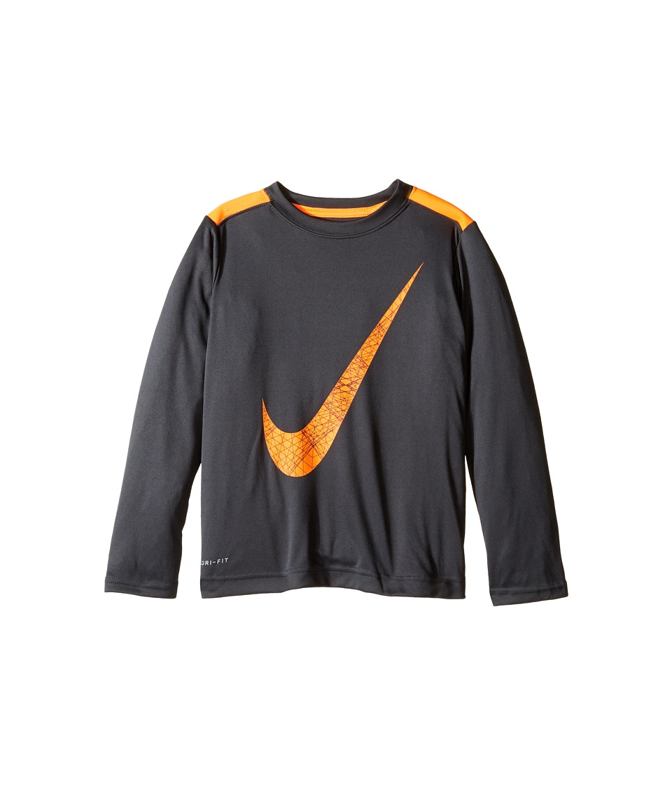 Nike Kids - Legacy GFX Long Sleeve Top (Little Kids) (Anthracite) Boy's Clothing
