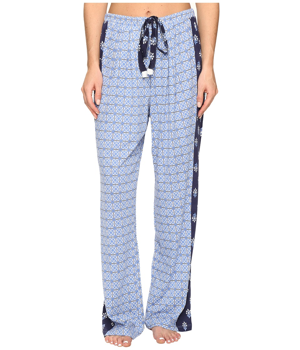 Lucky Brand - Combo Print Pants w/ Pouch (Blue Geo Tile) Women's Pajama
