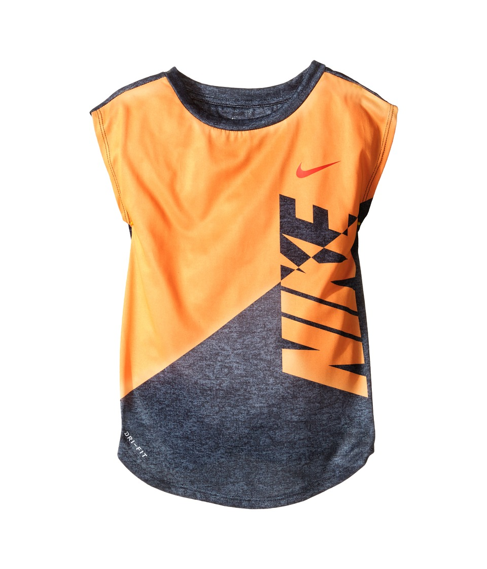 Nike Kids - Splice Heather Dri-Fit Tee (Toddler) (Peach Cream) Girl's T Shirt