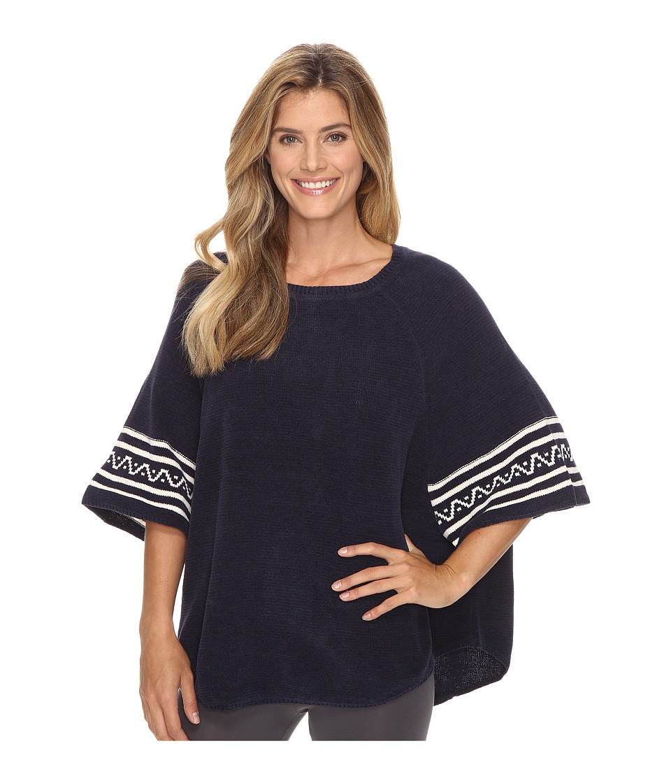 Lucky Brand - Raglan Poncho (Navy) Women's Clothing