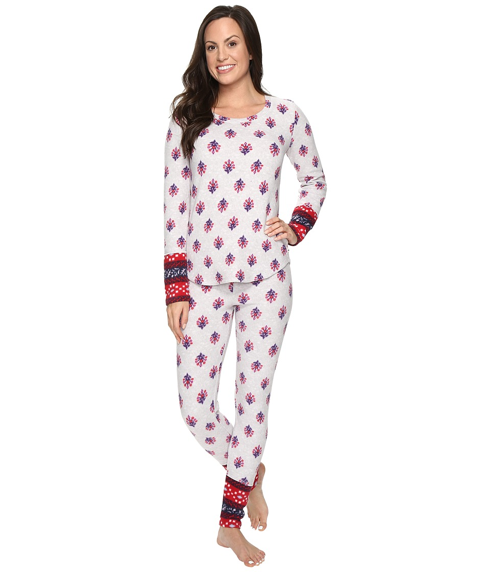 Lucky Brand - Packaged Microfleece Pajama Set (Haiku Floral) Women's Pajama Sets