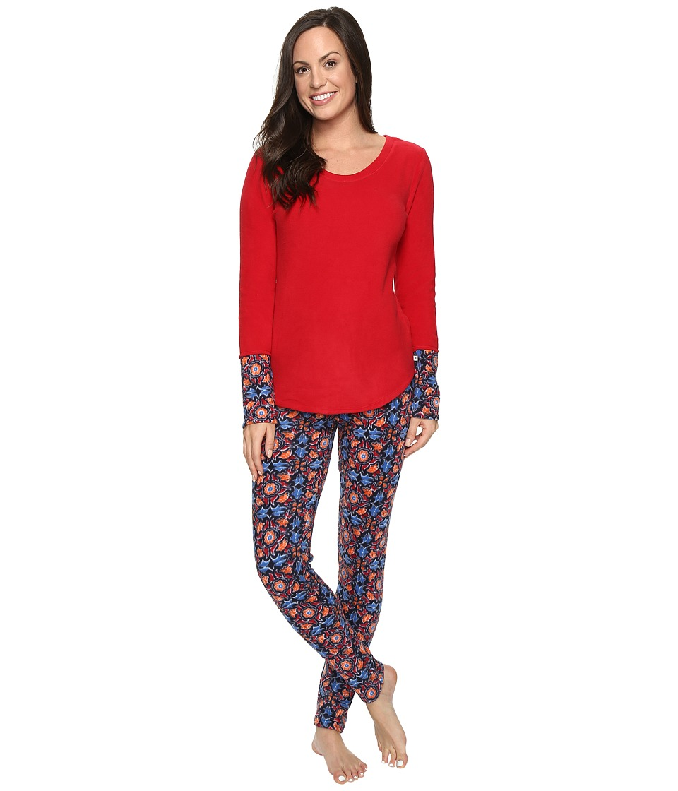 Lucky Brand - Packaged Microfleece Pajama Set (Baja Blockprint) Women's Pajama Sets