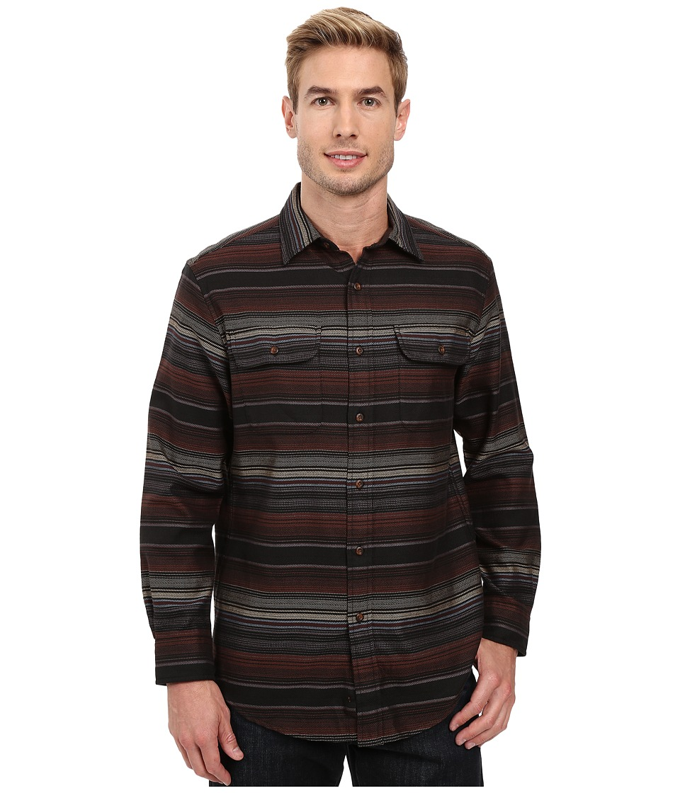 Pendleton - Camber Shirt (Brown Stripe) Men's Long Sleeve Button Up