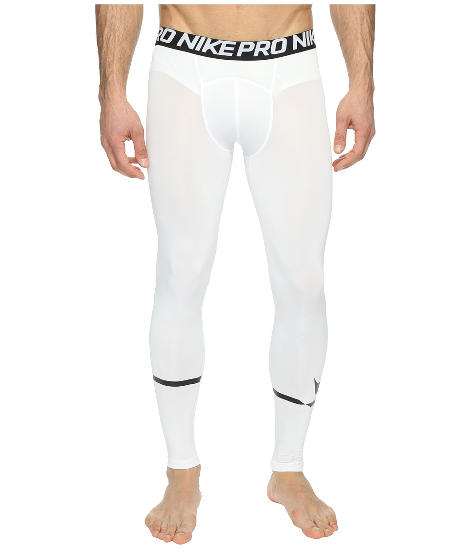 Nike - Pro Swoosh Compression Tight (White/Black) Men's Casual Pants