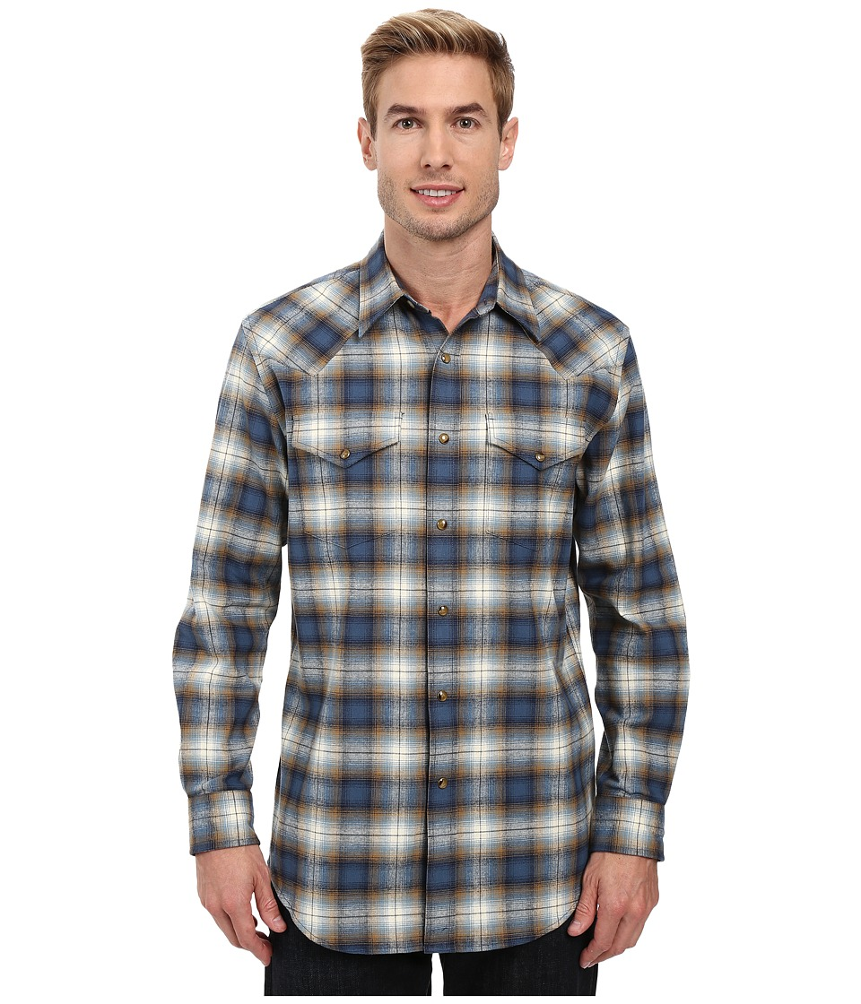 Pendleton - Jerome Shirt (Blue Ombre Plaid) Men's Long Sleeve Button Up