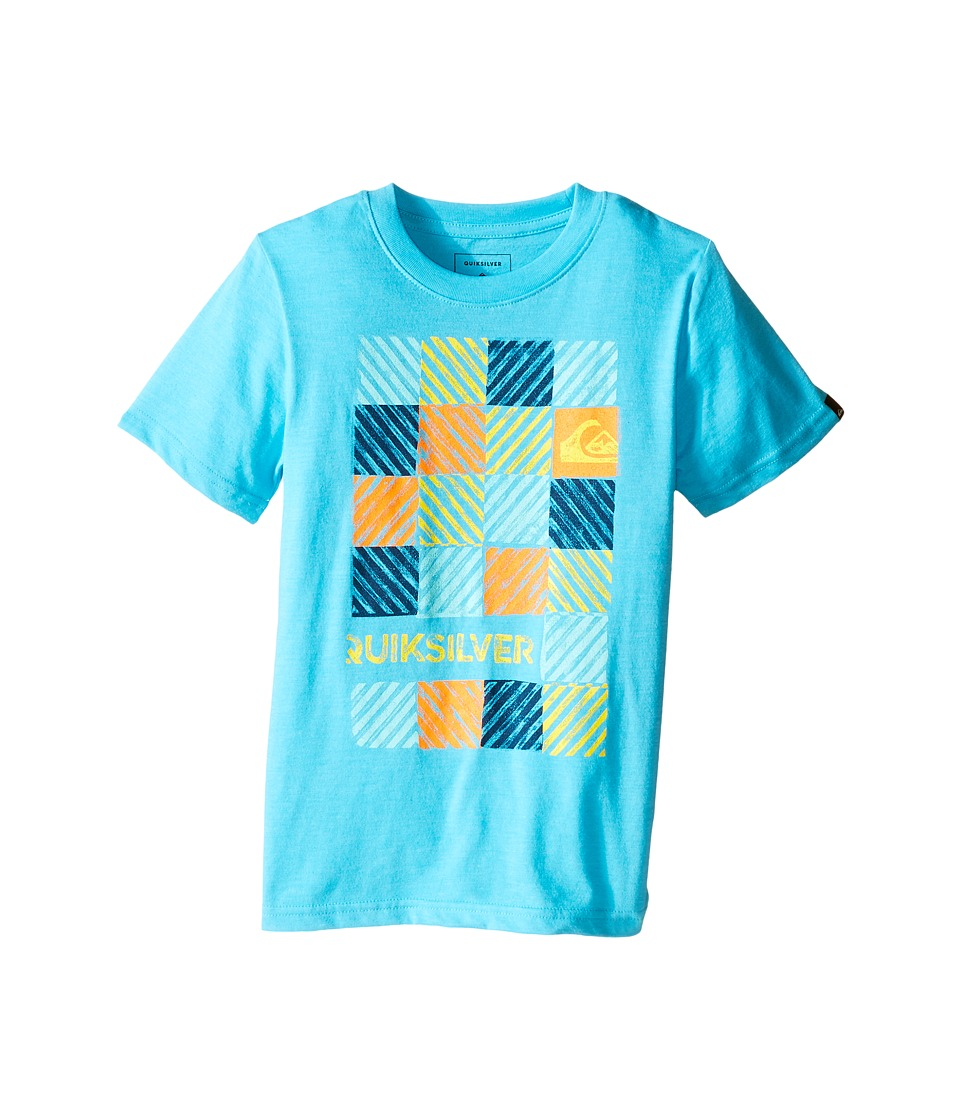 Quiksilver Kids - Opt Out Screen Print (Toddler/Little Kids) (Scuba Blue Heather) Boy's T Shirt