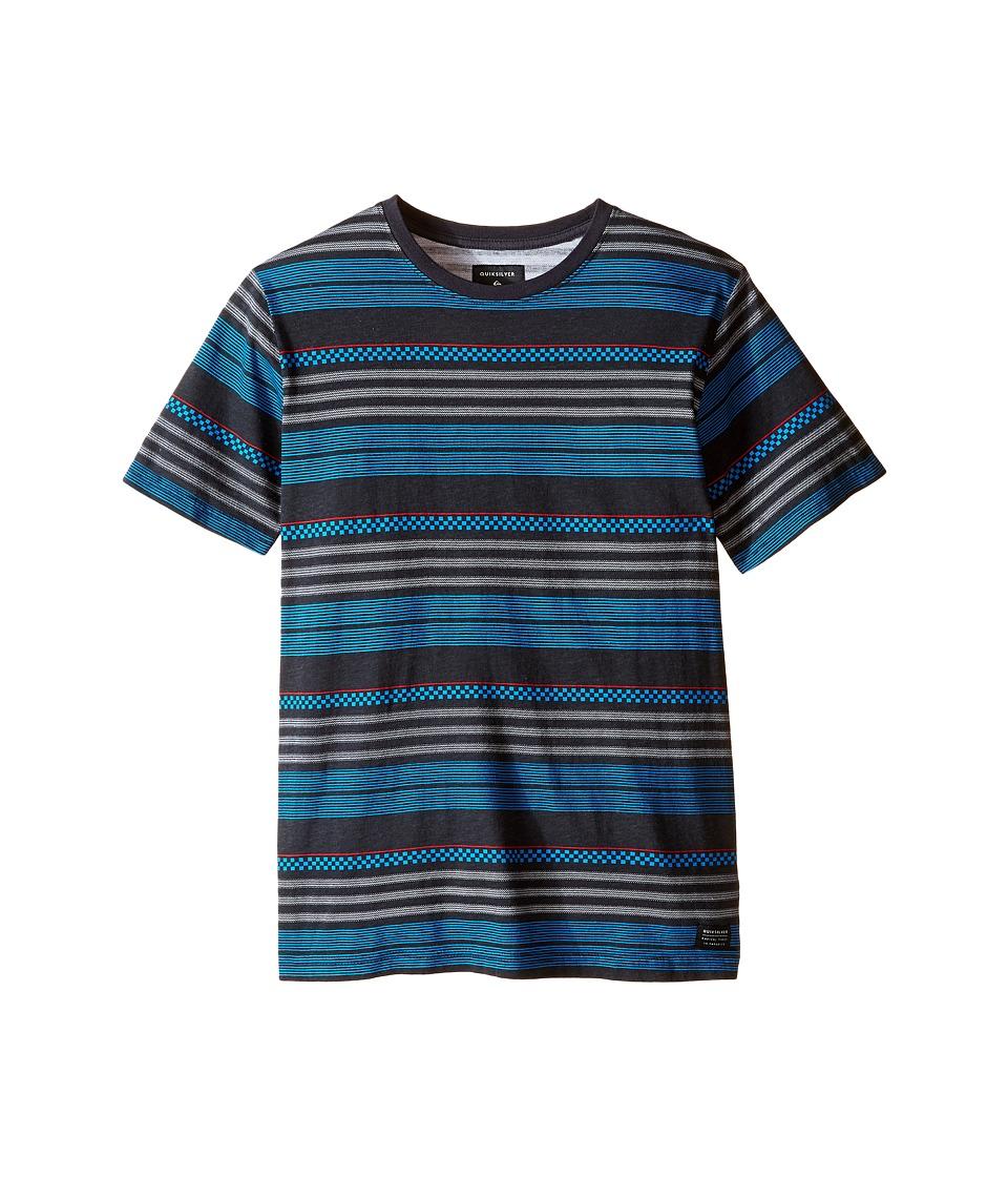 Quiksilver Kids - Strippen Screen Print (Big Kids) (Tarmac) Boy's T Shirt