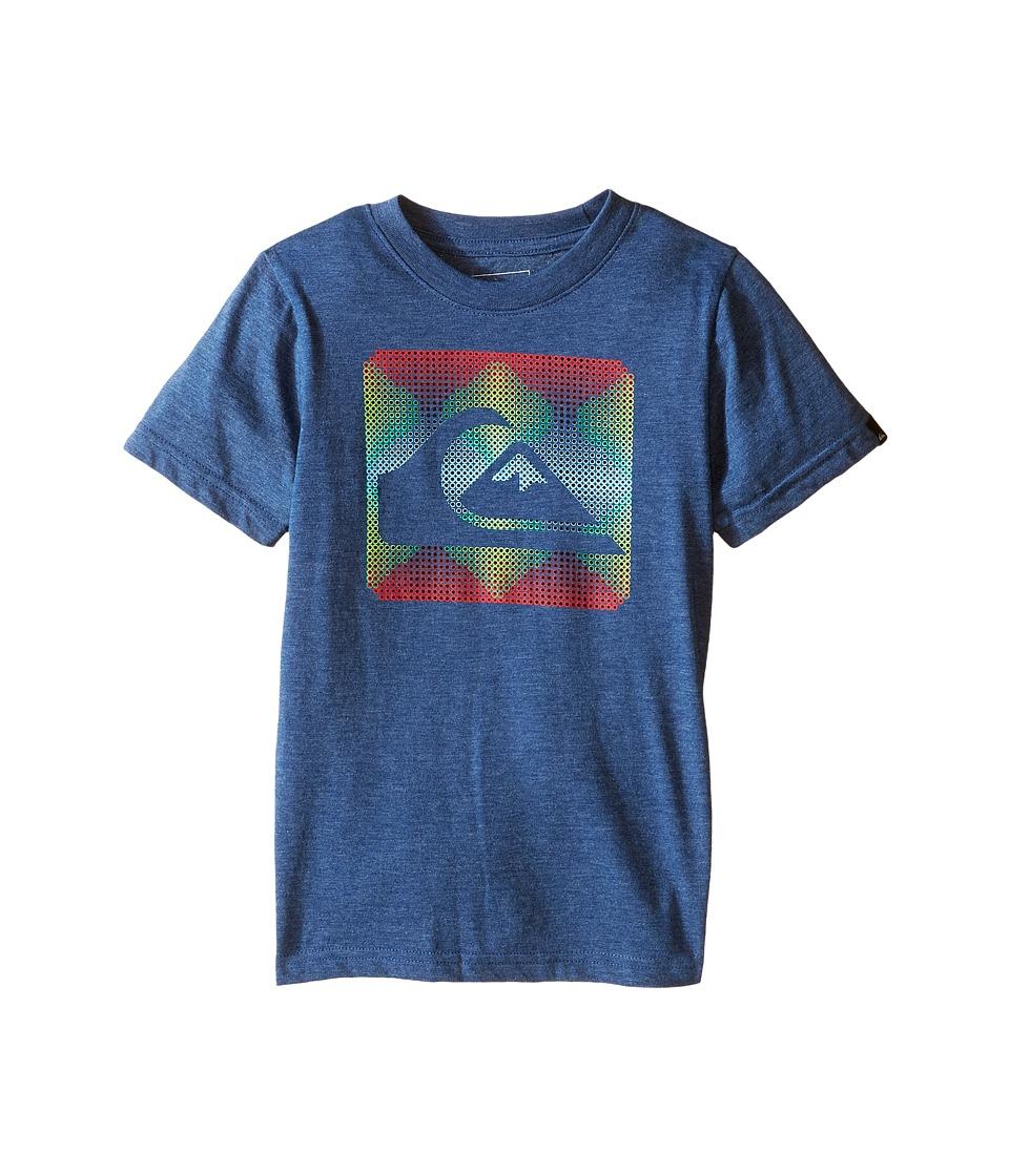 Quiksilver Kids - Digidots Screen Print (Toddler/Little Kids) (Dark Denim Heather) Boy's T Shirt
