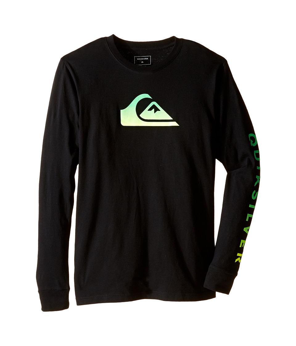 Quiksilver Kids - Grady Logo Screen Print (Big Kids) (Black) Boy's T Shirt