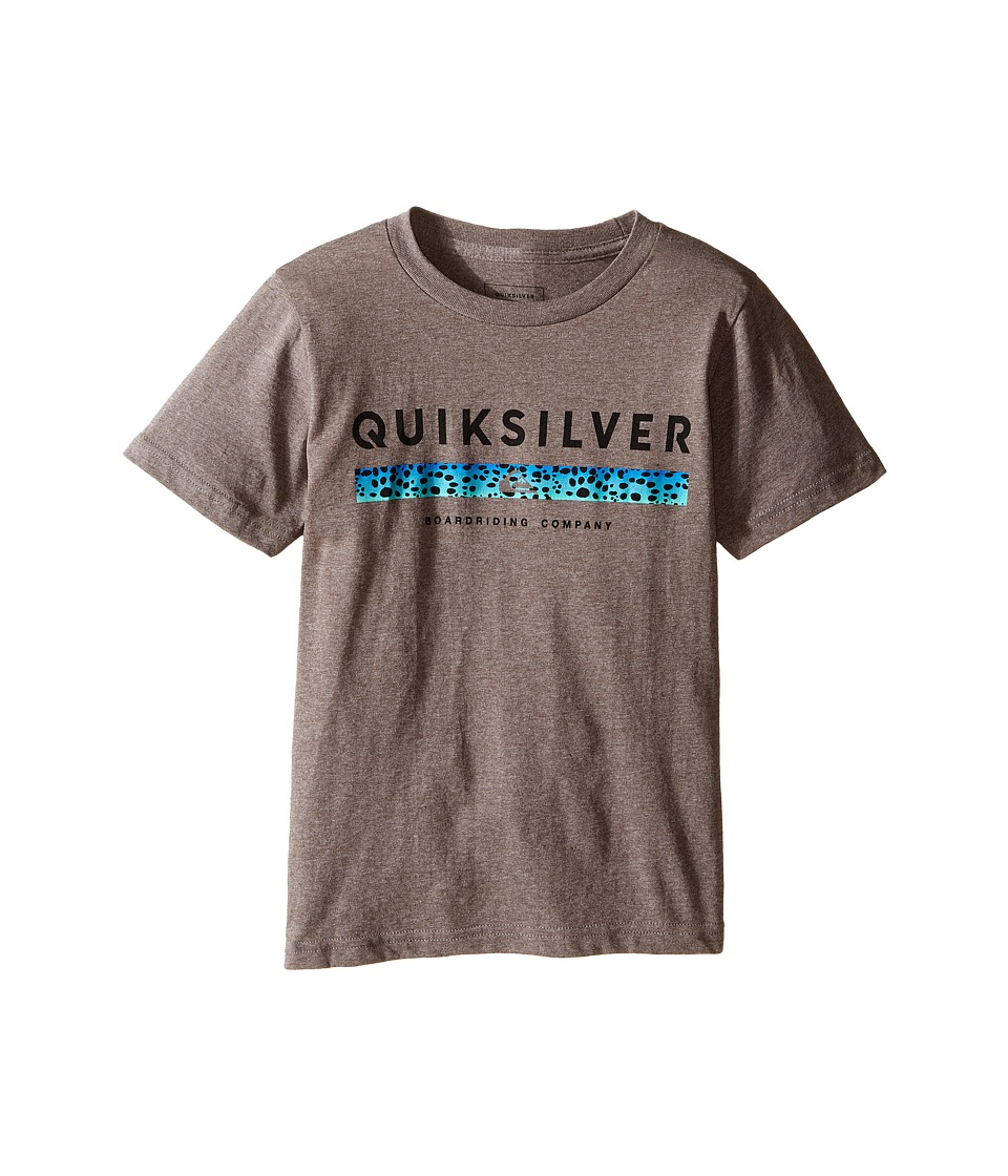 Quiksilver Kids - Under Score Screen Print (Toddler/Little Kids) (Medium Grey Heather) Boy's T Shirt