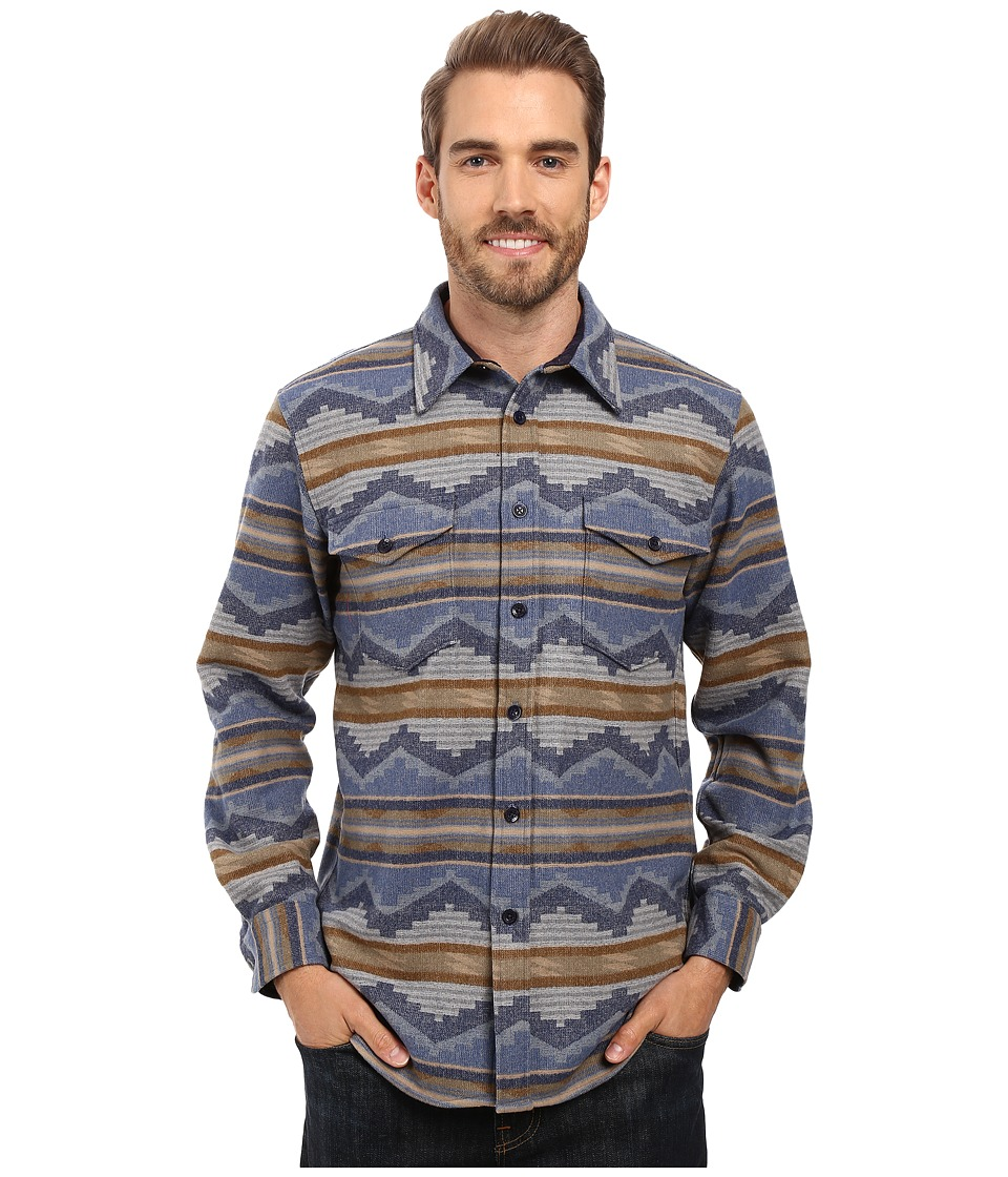 Pendleton - Pine Top Shirt (Blue Jacquard) Men's Long Sleeve Button Up