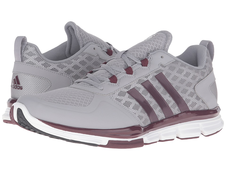 adidas - Speed Trainer 2 NCAA (Light Onix/Maroon/White) Men's Shoes