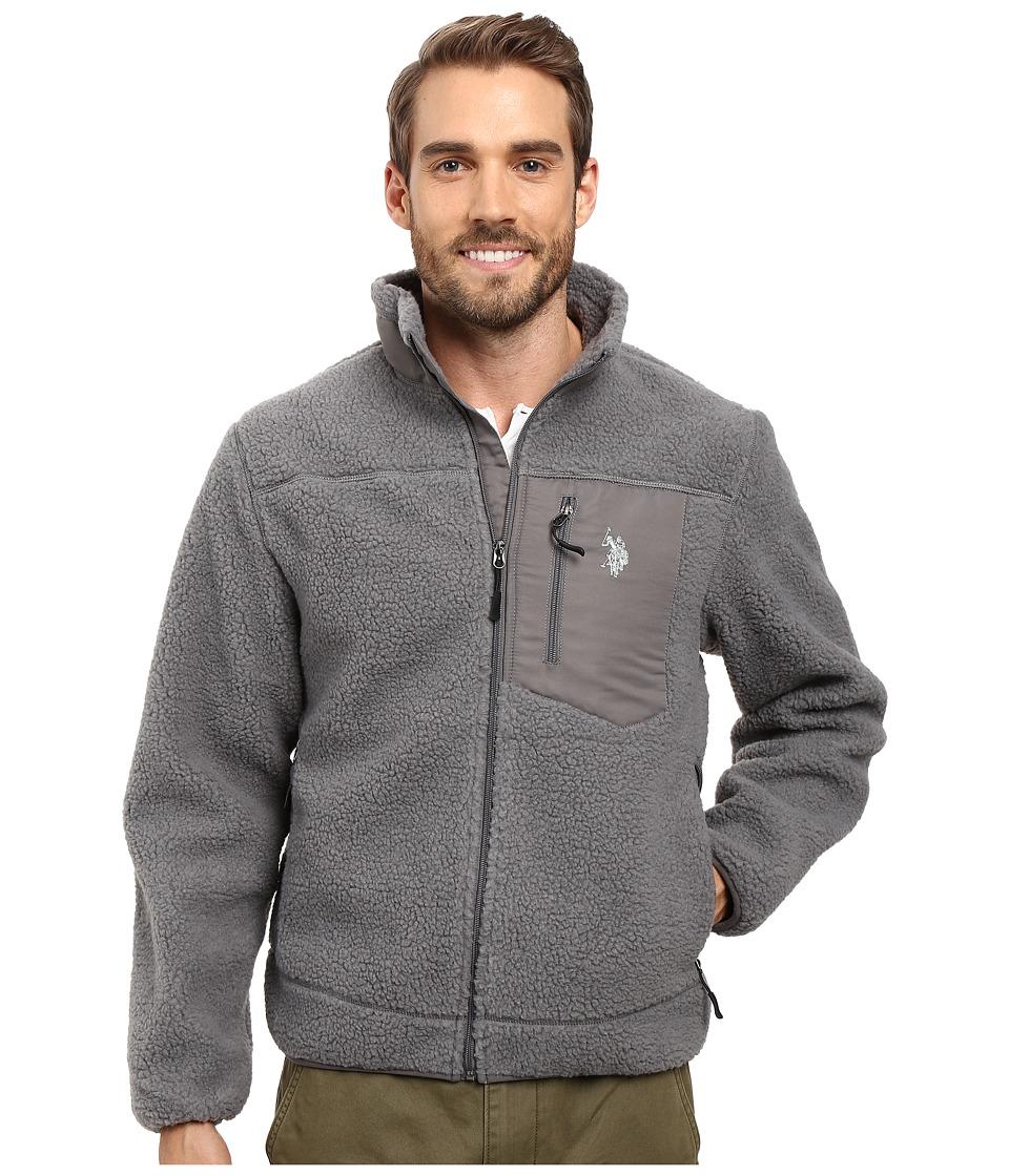 U.S. POLO ASSN. - Full Zip Sherpa Jacket (Castle Rock) Men's Coat